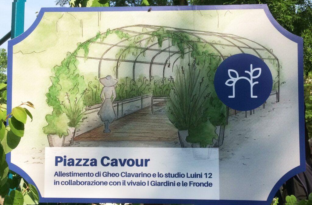 Ingresso piazza Cavour Orticola